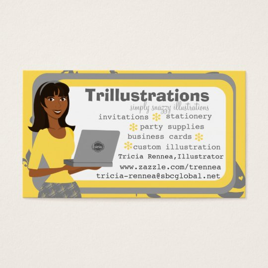 The Girl and her Laptop Business Card