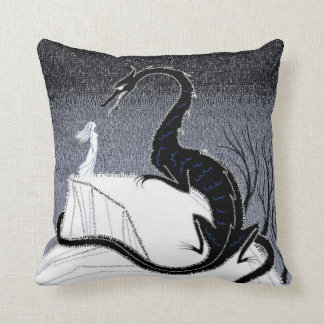 The Girl and the Dragon pillow Cushions