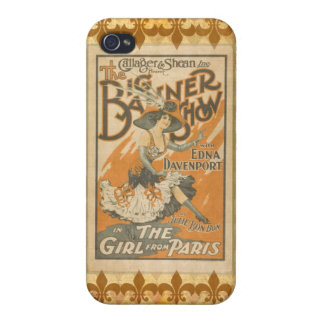 The girl from Paris, vintage Case For The iPhone 4