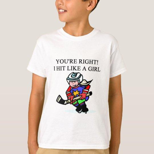 the girl hockey player T-Shirt