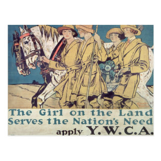 The Girl on the Land Serves the Nation s Need Postcard