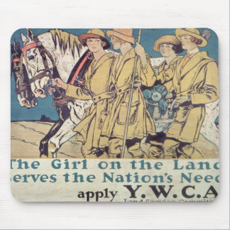 The Girl on the Land Serves the Nation's Need Mouse Pad