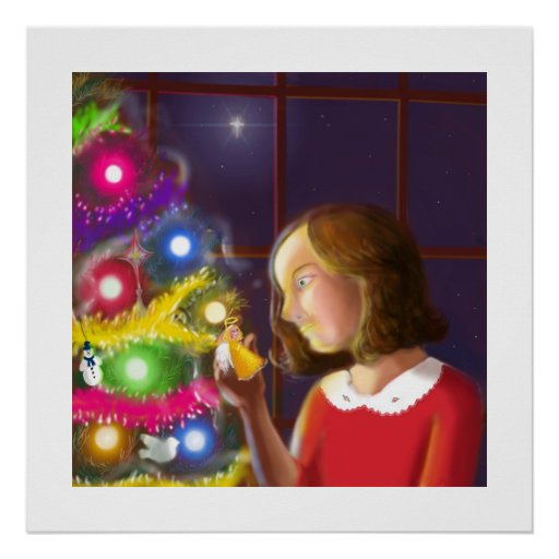 The Girl & the Angel of the Tree Print