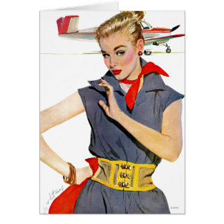 The Girl Who Stole Airplanes Greeting Card