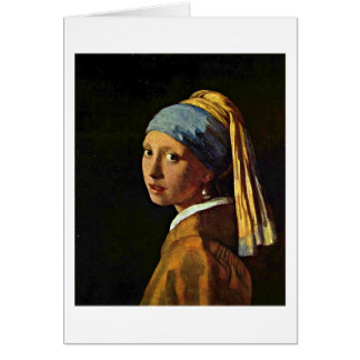 The Girl With A Pearl Earring By Johannes Vermeer Card