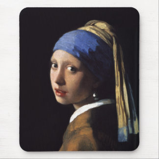 The Girl With A Pearl Earring by Johannes Vermeer Mouse Mat