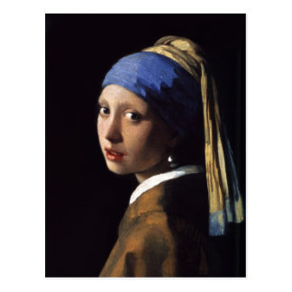 The Girl With A Pearl Earring by Johannes Vermeer Post Cards