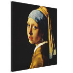 The Girl with a Turban/Girl with the Pearl Earring Canvas Prints