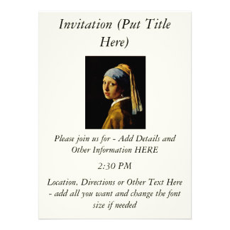 The Girl with a Turban Girl with the Pearl Earring Personalized Announcement