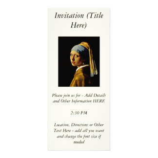 The Girl with a Turban Girl with the Pearl Earring Personalized Announcements
