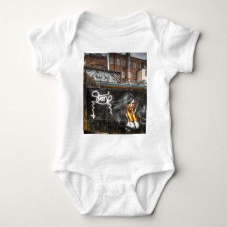The Girl with Orange Gloves, Shoreditch Graffiti Baby Bodysuit