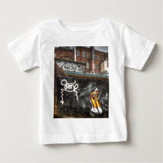 The Girl with Orange Gloves, Shoreditch Graffiti Baby T-Shirt