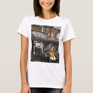 The Girl with Orange Gloves, Shoreditch Graffiti T-Shirt
