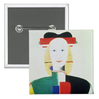 The Girl with the Hat 15 Cm Square Badge