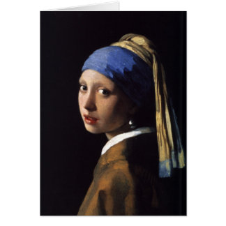 The Girl With The Pearl Earring by Vermeer Greeting Card