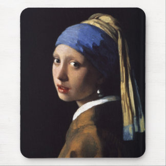 The Girl With The Pearl Earring by Vermeer Mouse Mat