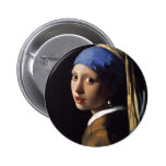 The Girl With The Pearl Earring by Vermeer Pin