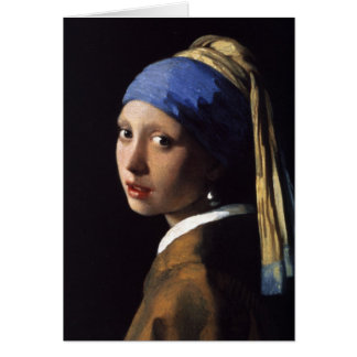 The Girl With The Pearl Earring Greeting Cards