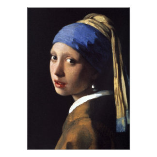 The Girl With The Pearl Earring Personalized Announcements