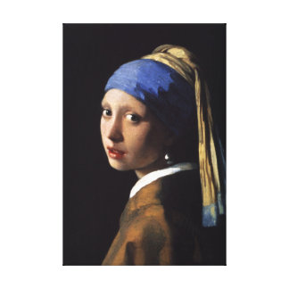 The Girl With The Pearl Earring - Wrapped Canvas