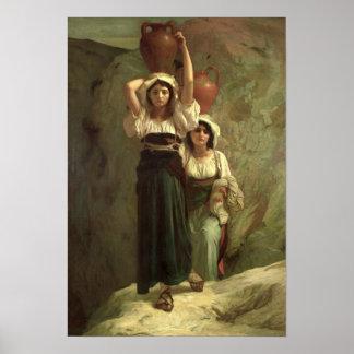 The Girls of Alvito, 1855 Poster