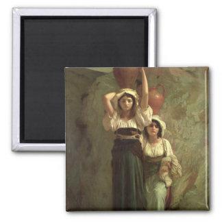 The Girls of Alvito, 1855 Square Magnet