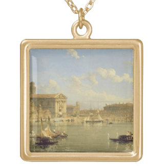 The Giudecca, Venice, 1854 (oil on canvas) Gold Plated Necklace
