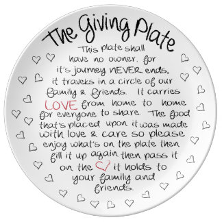 The Giving Plate Porcelain Plates