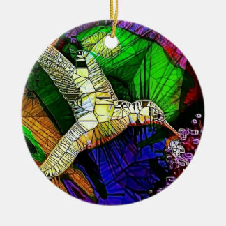 The Glass HummingBird Christmas Ornament
