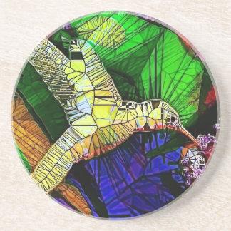 The Glass HummingBird Coaster