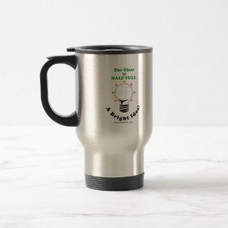 The Glass is Half Full Stainless Steel Travel Mug