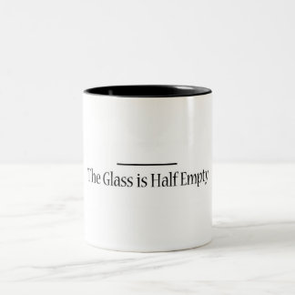 The Glass is Now Half Empty Two-Tone Coffee Mug