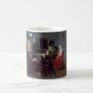 The Glass of Wine by Johannes Vermeer Coffee Mugs