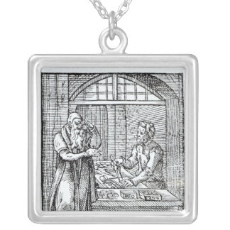 The Glasses Maker Silver Plated Necklace