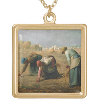 The Gleaners, 1857 Gold Plated Necklace