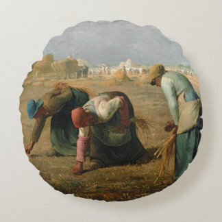 The Gleaners, 1857 Round Cushion