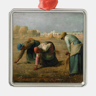 The Gleaners, 1857 Silver-Colored Square Decoration