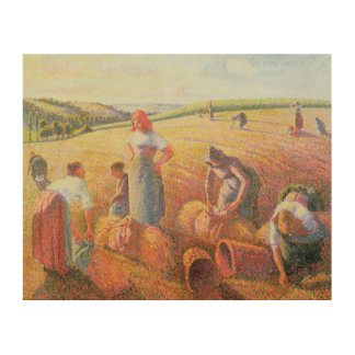 The Gleaners, 1889 Wood Print