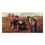 The Gleaners By Millet  (Best Quality) Customized Photo Card