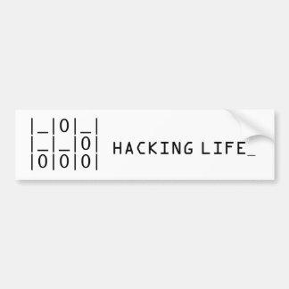 The Glider : Hacker Emblem Bumper Sticker Car Bumper Sticker