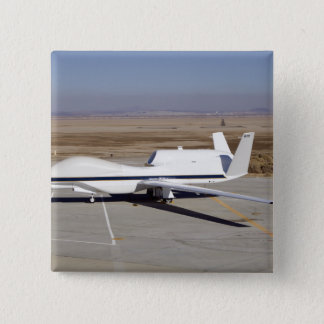 The Global Hawk unmanned aircraft 15 Cm Square Badge