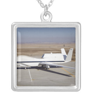 The Global Hawk unmanned aircraft Silver Plated Necklace