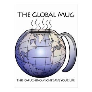 the global mug motto postcard