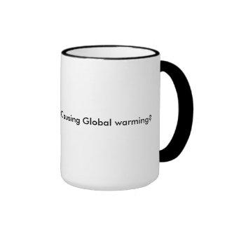 The Global Warming  Hot Flash Ringer Mug