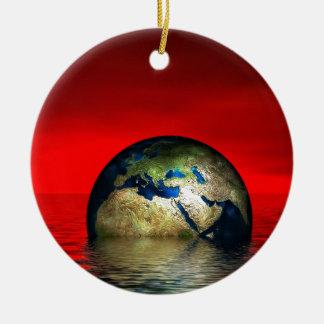 The Globe Round Ceramic Decoration
