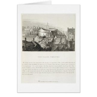 The Globe Theatre, c.1647, published by Robert Wil Greeting Card