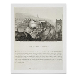 The Globe Theatre, c.1647, published by Robert Wil Poster