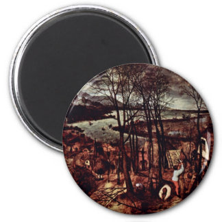 The Gloomy Day (Month Of February Or March) By Bru 6 Cm Round Magnet