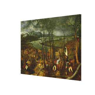 The Gloomy Day - Spring, 1559 Canvas Print