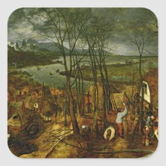 The Gloomy Day - Spring, 1559 Square Sticker